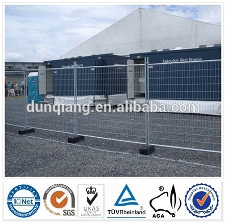china por inmersión en caliente galvanizado temporal valla piscina fabricación