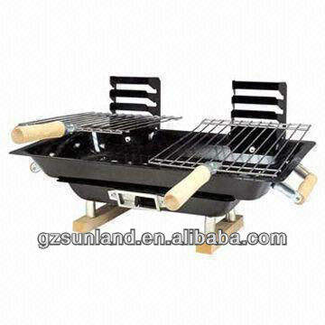 japanse stijl hibachi tafel/paar bbq barbecue, dubbele grillroosters, tafel bbq grills