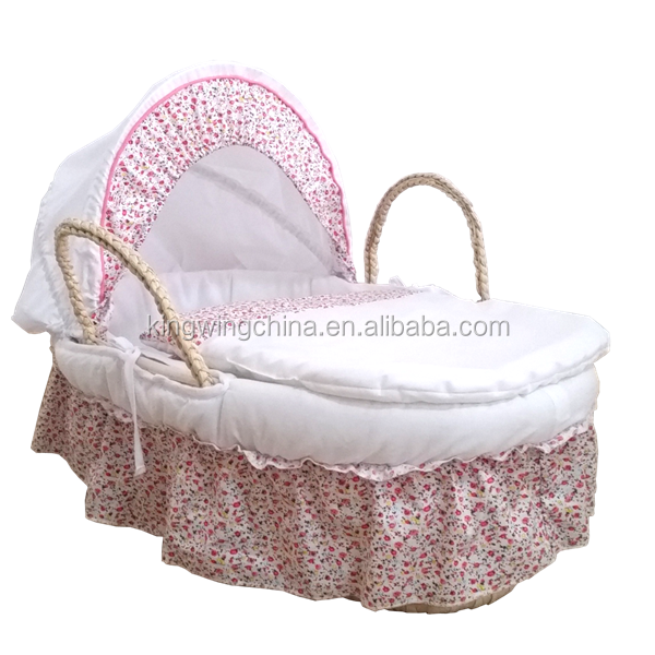 3 pieces Frilly moses basket dressing