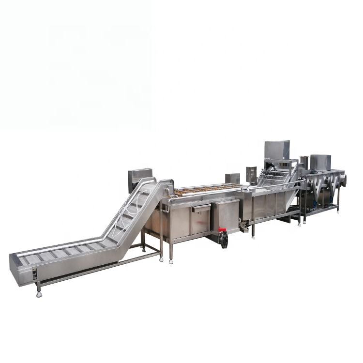 Vegetable fruit bubble washing machine and food processing production line