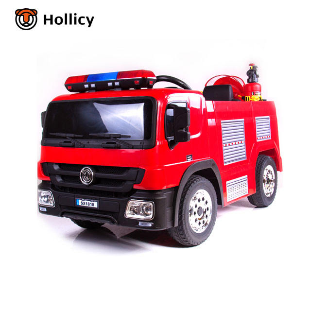 12v battery remote control fire engine toys car with removable battery children electric ride on car made in China