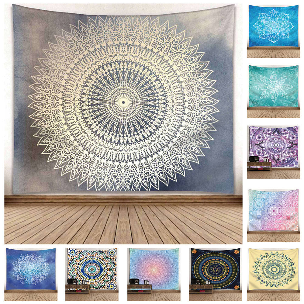 Wholesale Polyester Digital Printed Decorative Wall Hanging Custom Made Mandala Tapestry 91*71 inch