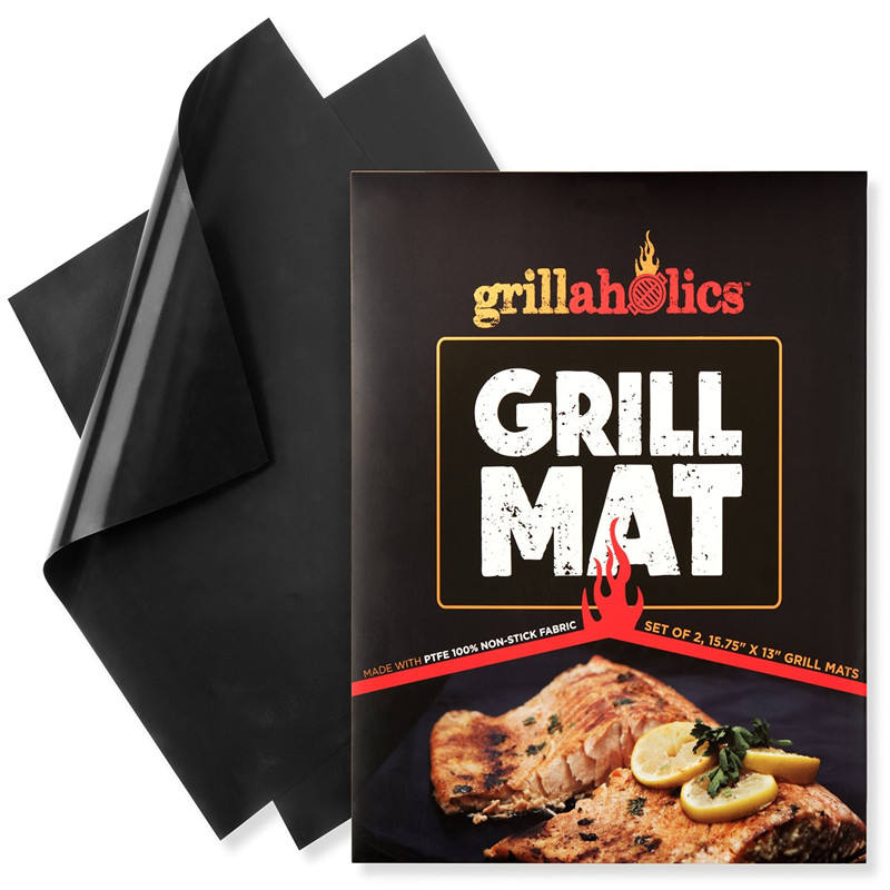 Grillaholics Grill Mat Non-Stick Fire Resistant Miracle PTFE BBQ Grill Mat