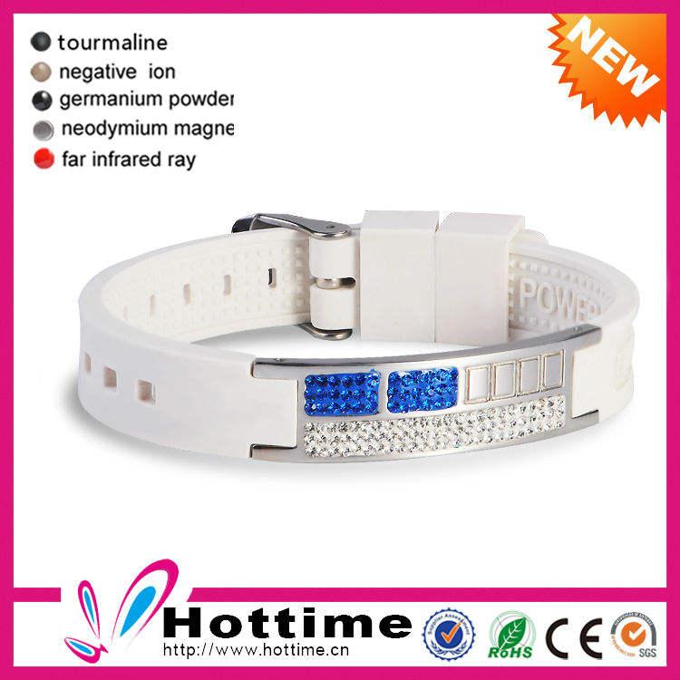 4 em 1 de energia de íons negativos de silicone pulseira de pulso banda