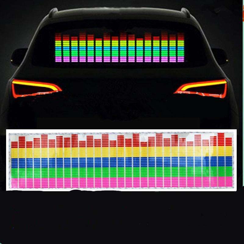 2019 flashing equalizer custom el car sticker music rhythm glowing sticker for any car style