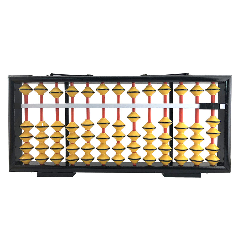 Training Aid 13rods Plastic Beads Not Sliding Down Frame Wooden Teacher Big Abacus From China