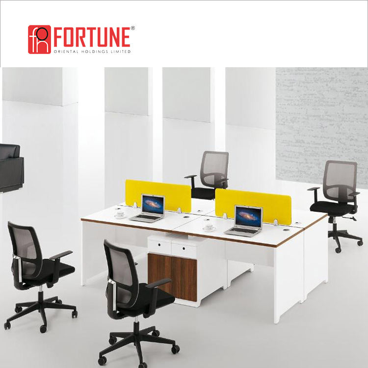 Modern effective office white lacquer office workstation staff table office(FOH-JC1206)