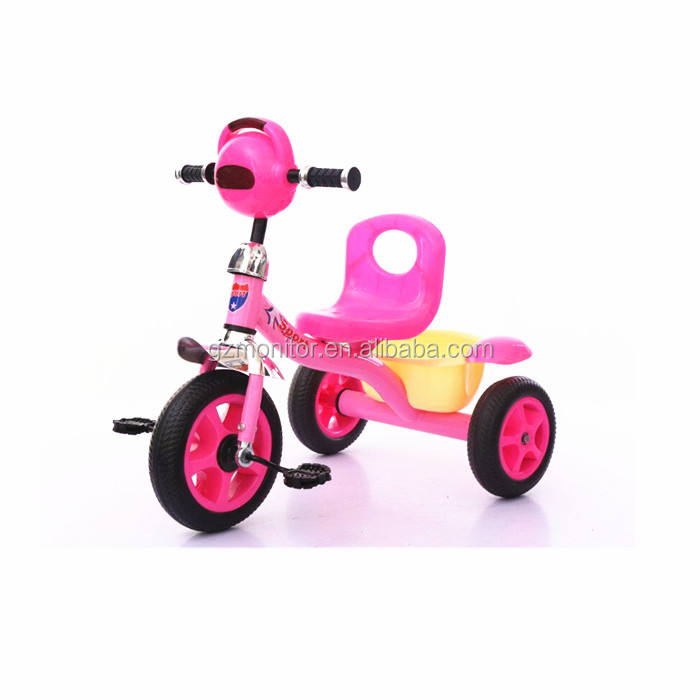 2017 new style kids tricycle / child tricycle with inflatable tire / high quality curved beam baby pedal car