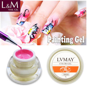 L&M Lvmay brand soak off polish uv painting gel wholesale 12 color nail art paint uv gel product