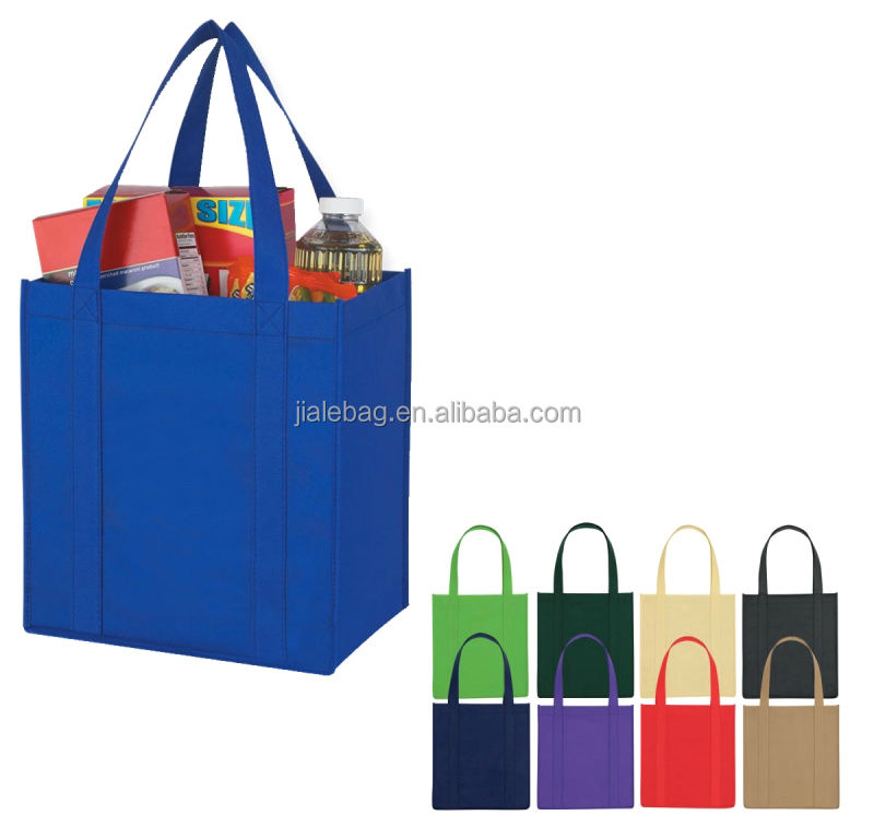 New silk screen printed 80gsm reusable tote non woven cloth bag