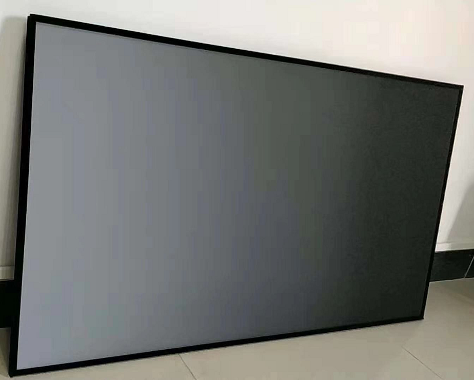 fixed frame projection screen with ALR fbaric double sided projection screen
