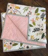 Wholesales stock custom 100% cotton baby quilt