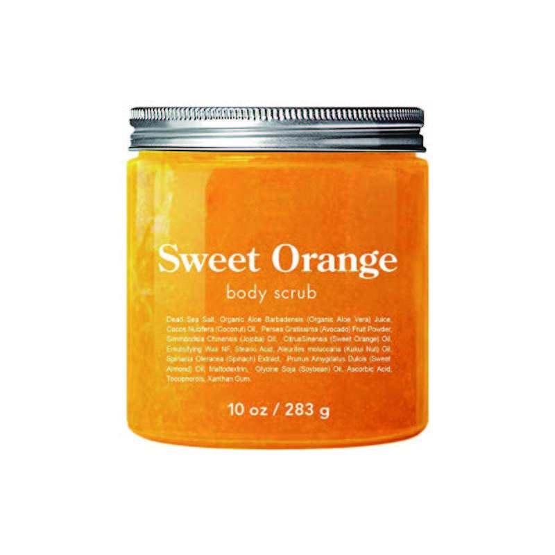 Professional Natural Sweet Orange Body Scrub For Removing Dead Skin
