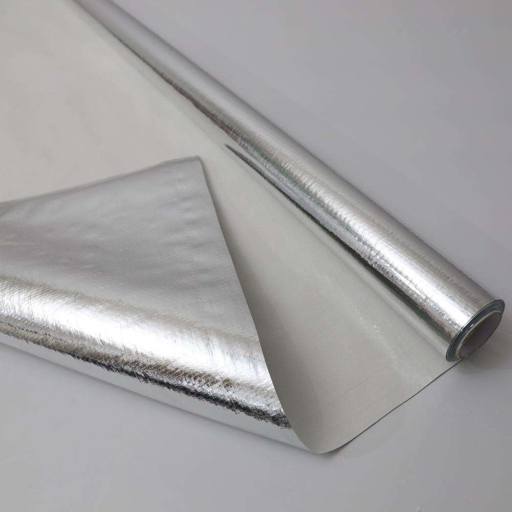 Reflective Aluminum Mylar Foil Coated PP Plastic Woven Fabric for Building Thermal Insulation