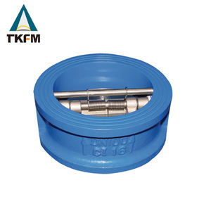 TKFM factory ductile iron body ss304 disc wafer dual plate check valve pricestainless steel