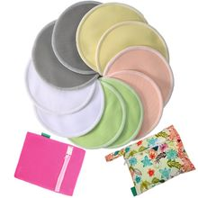 Factory custom ultra-soft hypoallergenic waterproof free sample natural bamboo breastfeeding nursing bra pads for moms