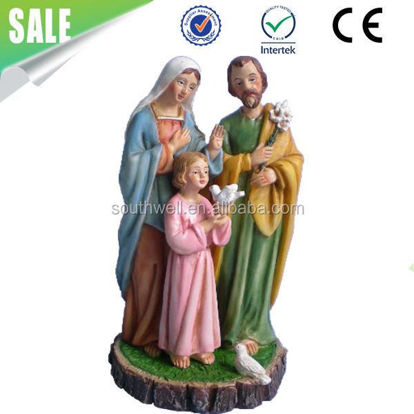 Custom Wholesale Religious Crafts Resin Saint Holy Family