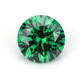 AAA Grade Loose Gemstone CZ Green Color Round Cut 6.5mm Best Price Cubic Zirconia from China