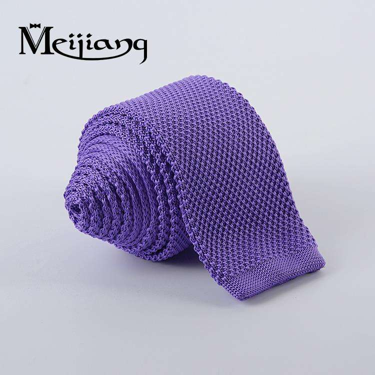 Factory direct hand made custom knitted stripe tie polyester