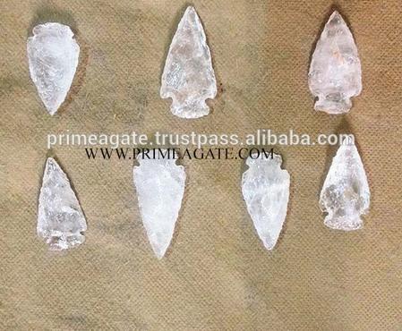 Wholesale Lot Of 5 Beautiful Glass Artifacts Arrowheads Flint Stone Bird 6inches