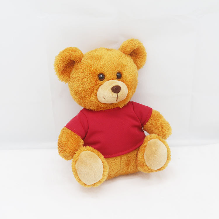 2019 baby plush teddy bear with tee shirt and logo