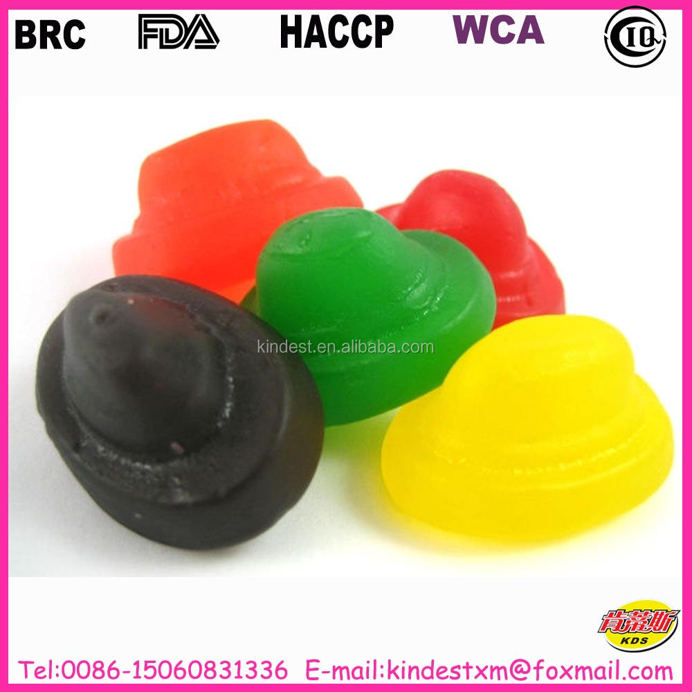Gummy candy produced by BRC, WCA, HACCP, HALAL, GMP certified manufacturer