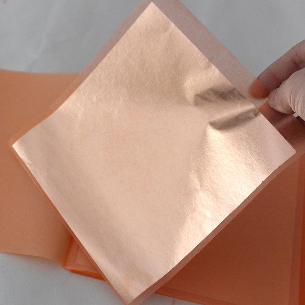Pure Copper Patent Leaf Transfer Sheets 50 14cm x 14cm Sheets Gilding
