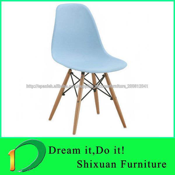 hermosas de la silla de plástico sillas eames