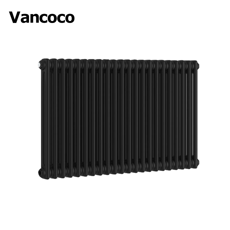 600x988mm Black horizontal home heater steel column radiator