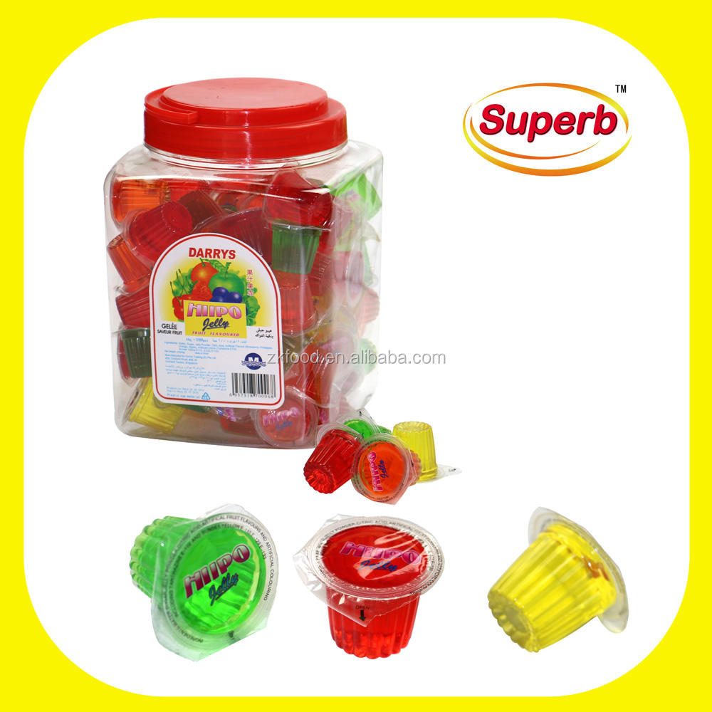 China Chaozhou Anbu Voedsel <span class=keywords><strong>Bedrijf</strong></span> 16G 100 Pcs/Jar Mini Diverse Fruit Jelly