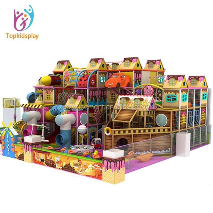 Colorful indoor soft kids playground, outdoor entertainment equipment play items