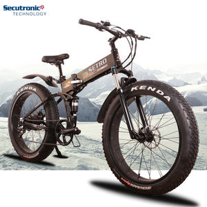 26 inch Fat Tire 36V Moutain Fatbike 1000W Electric Bike Foldable Mid Drive