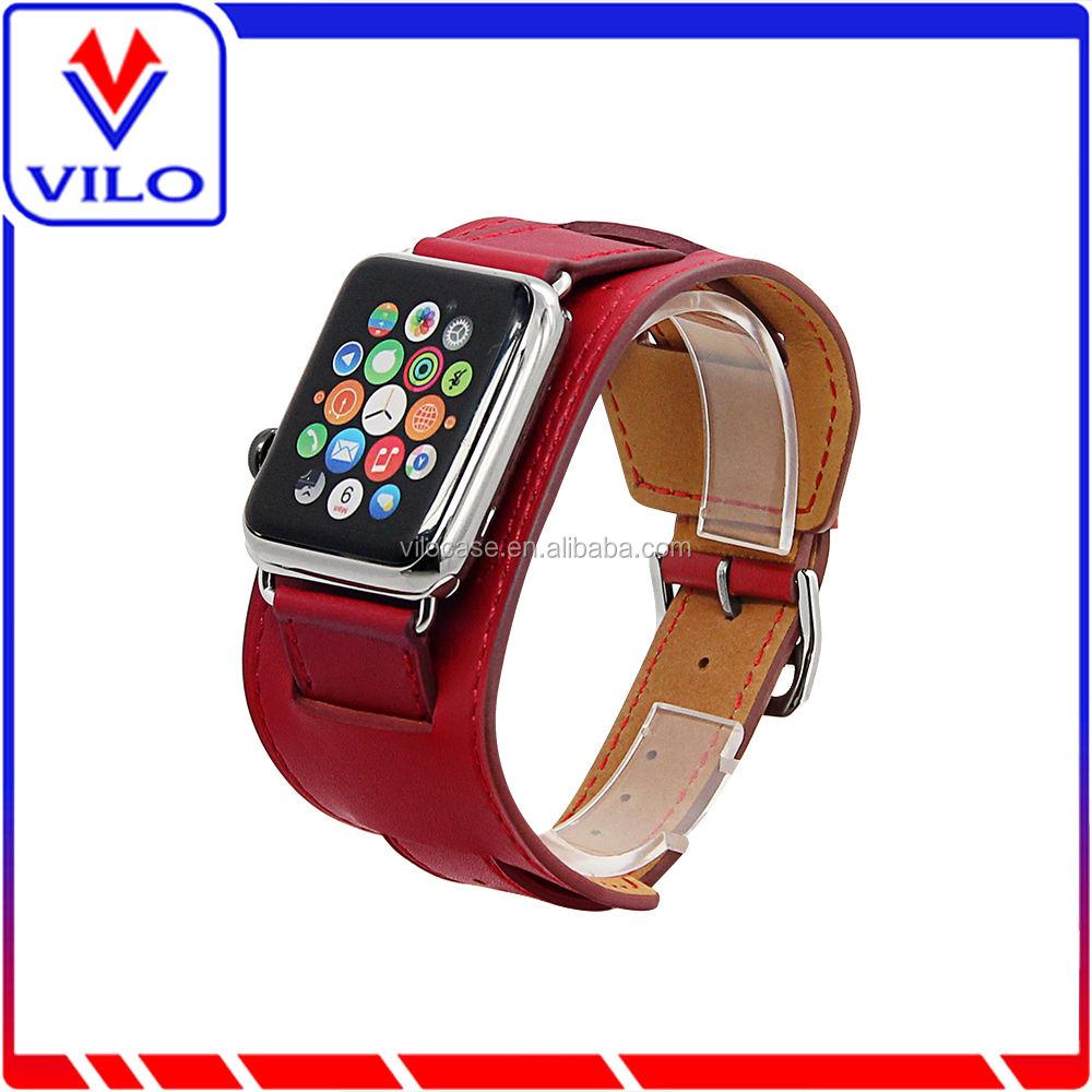 Haute qualité <span class=keywords><strong>Parfaite</strong></span> bande de montre en cuir boucle montre bande pour iwatch