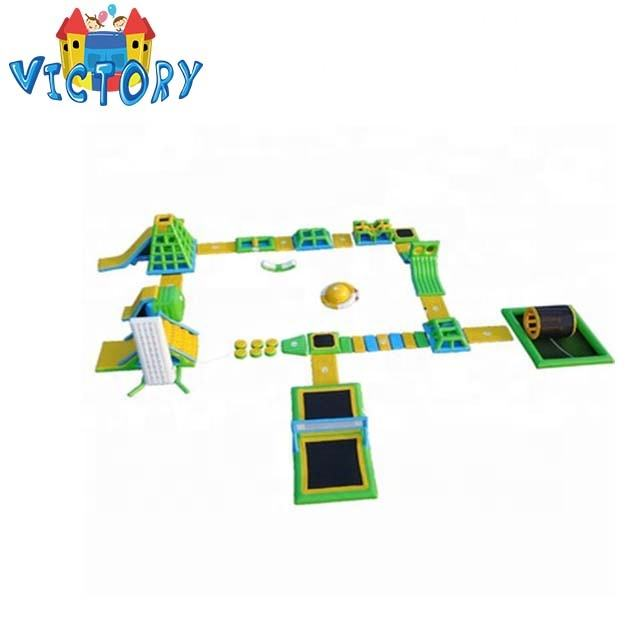Hot Summer Inflatable Water Park, Water Obstacle Course, Inflatable Water Sport For Sale