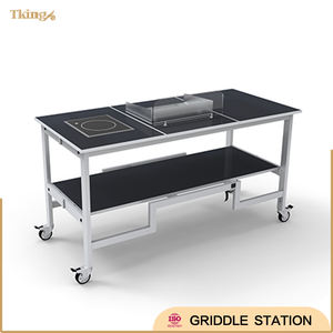 hotel supplies catering foldable Griddle Station display for buffet and banquet
