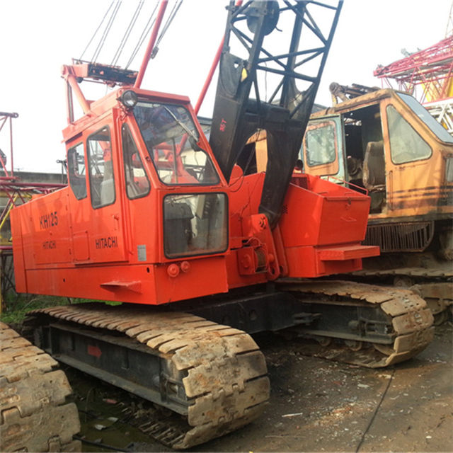 Used Hitachi KH125 50ton Japan original crawler crane, also have Kato KR25H