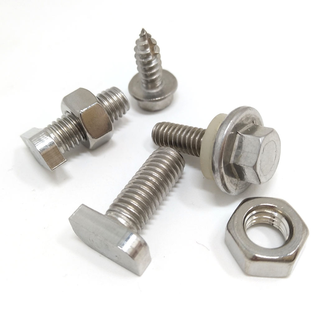 Fasteners stainless steel (ss) hex bolt and nuts A2-70 304
