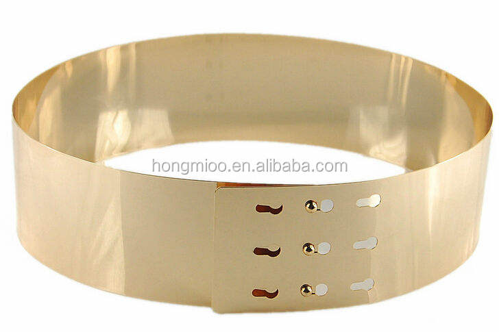 NEW design high quality fashion gold metal mirror belts