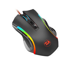 Redragon M607 Computer USB 7200 DPI RGB 8D Optical Ergonomic Gaming Mouse For PC Gamers
