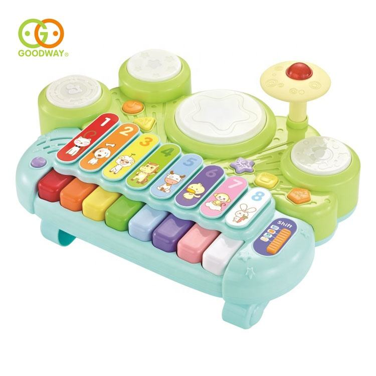 Wholesale electronic xylophone piano keyboard toy kids mini jazz drum set toddler musical instruments
