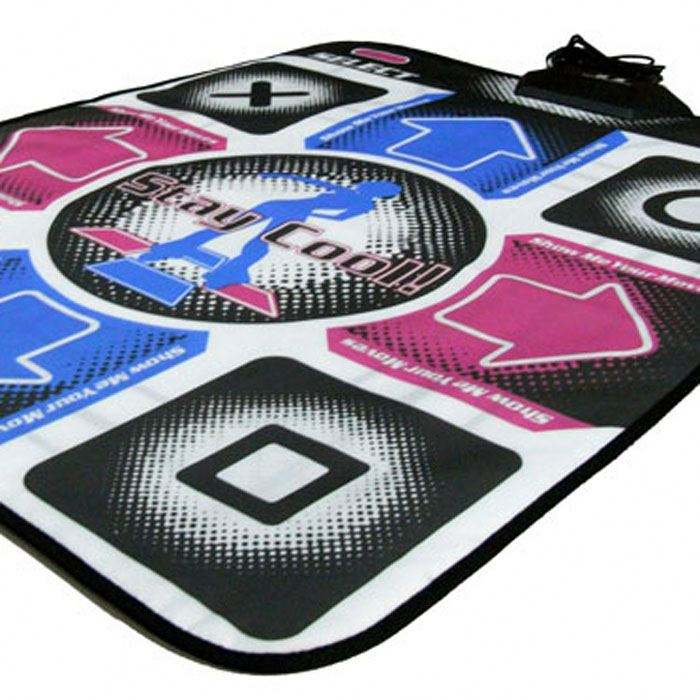 Twin Double 32 Bit HD Dance Mat Dancing Pad with LED Light & 2GB TF Card