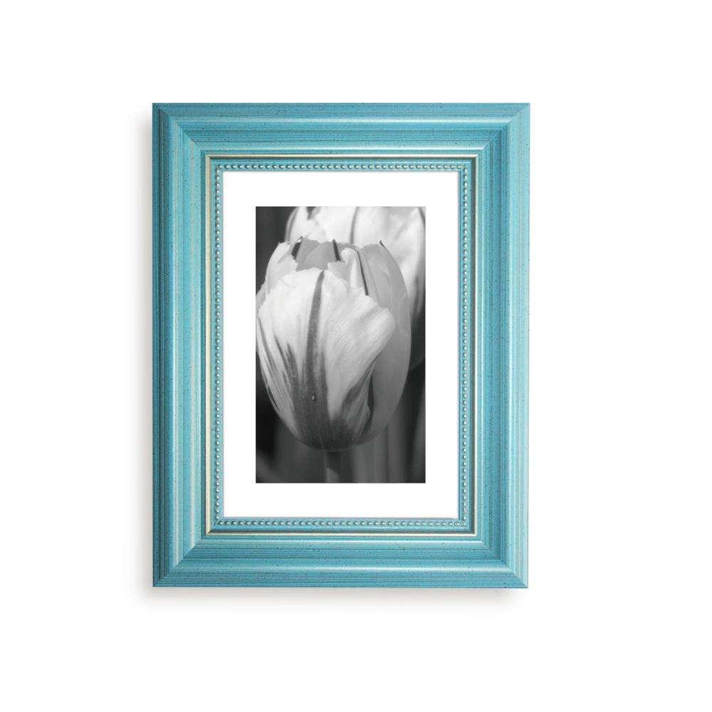 Capiz Design Photo Frame Aqua 5x7