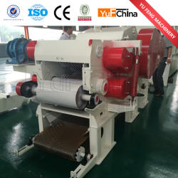 Yufchina brand CE APPROVED 8-15TPH Drum Industrial wood chipper
