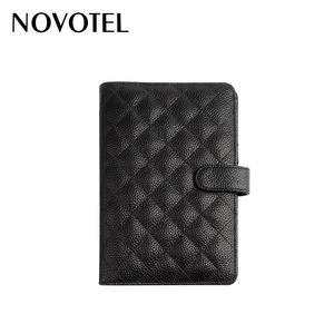 black smart custom full grain genuine leather note book