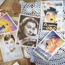 Factory full color printing paper tourist souvenirs postcards vintage
