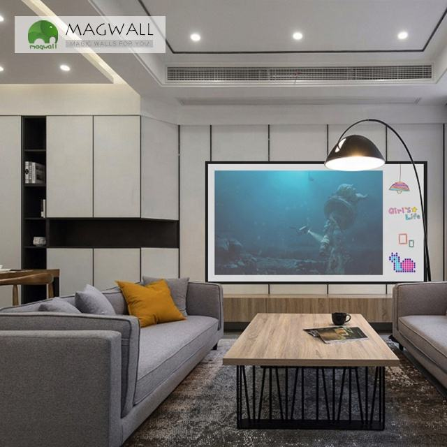 Magwall double-layer whiteboard drawing magnetic flexible projection whiteboard wall sticker
