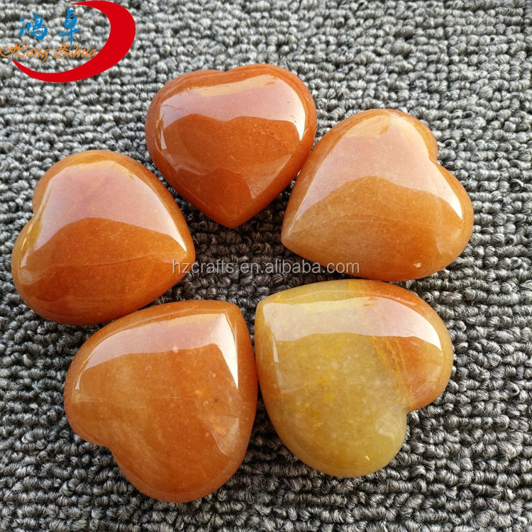 crystals healing stones rocks red aventurine heart shaped wholesale dealer