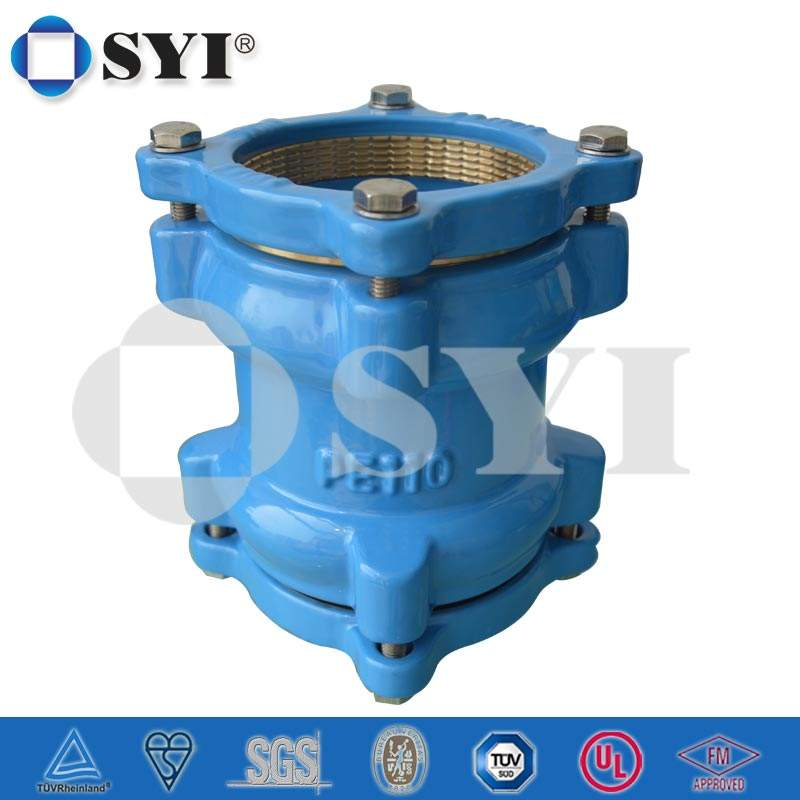 SYI Brand Ductile iron pipe fittings for PE Pipes