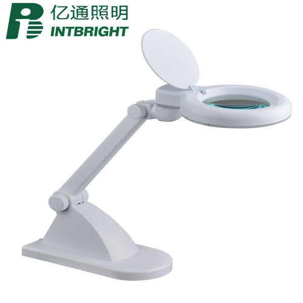 Economic light led lamp factories china magnifiers jewelry loupes 5 diopter LED magnifying desk lamp
