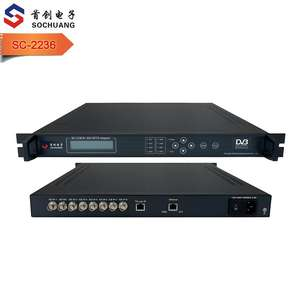 8 ASI zu 64 IP SPTS gateway mit multiplexer/kabel tv zu IPTV UDP IGMP multicast adapter/hotel digitalen IPTV streamer